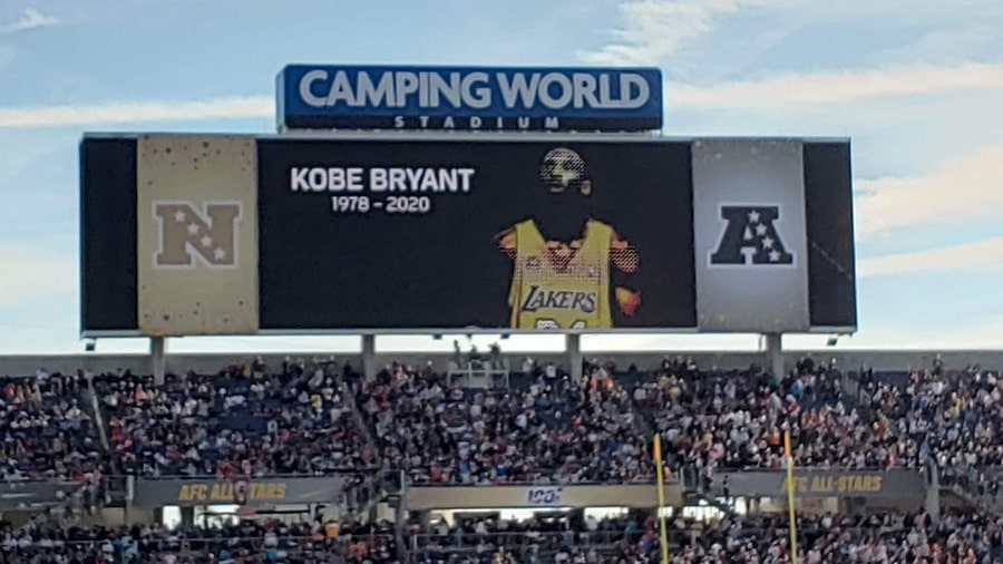 Crowd at NFL Pro Bowl chants Kobe Bryant's name following moment of silence