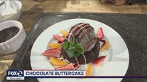 Tasting Mastro's Steakhouse chocolate buttercake
