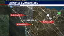 Same suspects believed responsible for 3 residential burglaries in Hillsborough