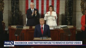 Trump tweets altered video of Nancy Pelosi ripping up State of the Union speech