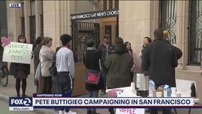 Pete Buttigieg in Bay Area for private fundraiser events, small protest erupts