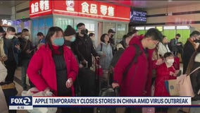 Apple temporarily closes Chinese stores amid coronavirus outbreak
