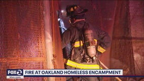 Firefighters run into obstacle responding to Oakland homeless encampment fire