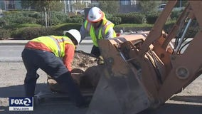 Fremont installs boulders along 1,700 foot section of roadway to prevent homeless from parking