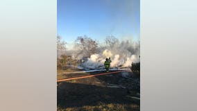 Vacant Pleasant Hill home destroyed in Friday afternoon inferno