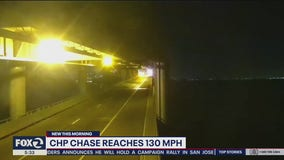 Driver leads CHP on overnight chase; speeds reach 130 mph