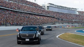 'Start your engines!' Trump revs up Daytona 500 crowd, does lap in presidential limo