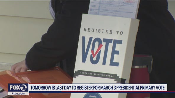 Tuesday is deadline to register to vote in California's presidential primary