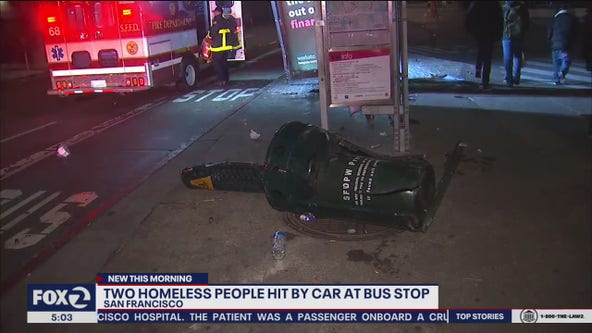 Driver hits two homeless men sleeping by bus stop in San Francisco