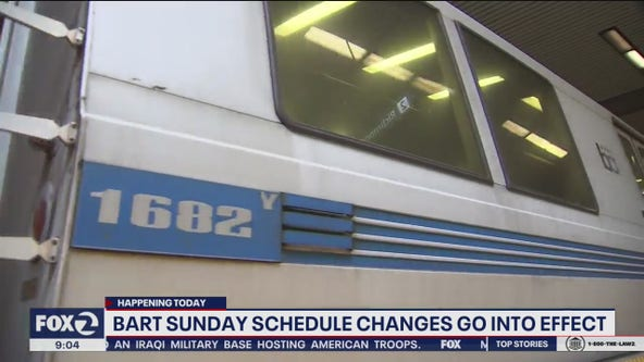 BART's new Sunday schedule rolls out as transit agency works to improve service