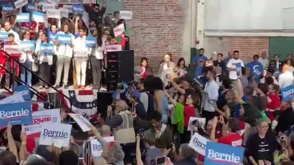 Topless protesters briefly disrupt Bernie Sanders campaign rally in Richmond