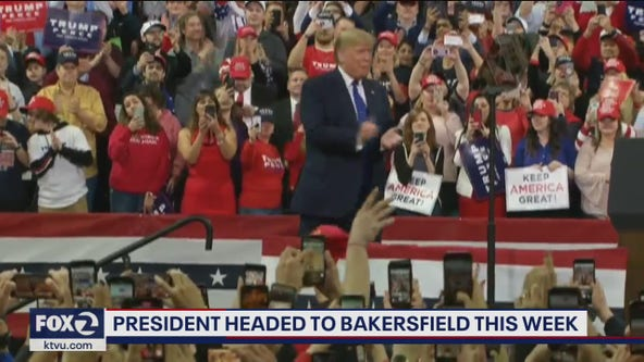 President Trump heading to Bakersfield on Wednesday