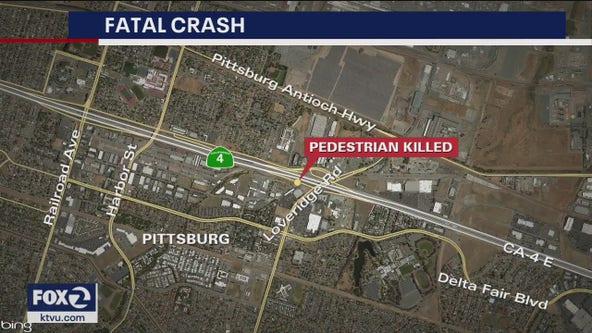 Pedestrian struck, killed on Pittsburg off-ramp