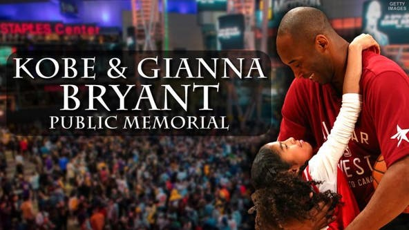 Kobe, Gianna Bryant public memorial: Tickets to Staples Center event on sale Wednesday