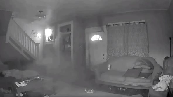Fire breaks out while child sleeps on couch at Missouri home