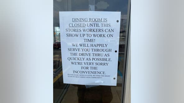 Taco Bell apologizes after sign appears at restaurant calling out workers for showing up late