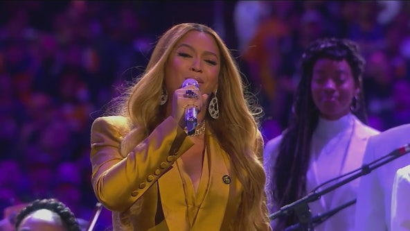 'This was one of his favorite songs': Beyonce opens Kobe Memorial with emotional performance