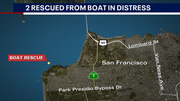 SFFD, Coast Guard rescue two from boat in distress