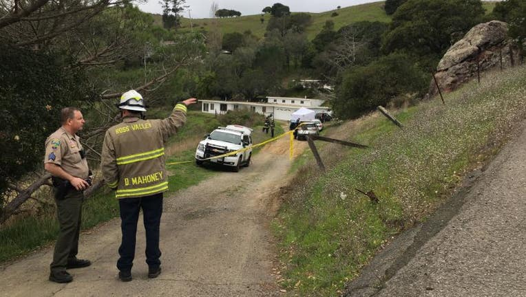 Authorities are investigating the death of a 32-year-old man and a 30-year-old woman who were found lifeless in the driveway of a home in San Anselmo.