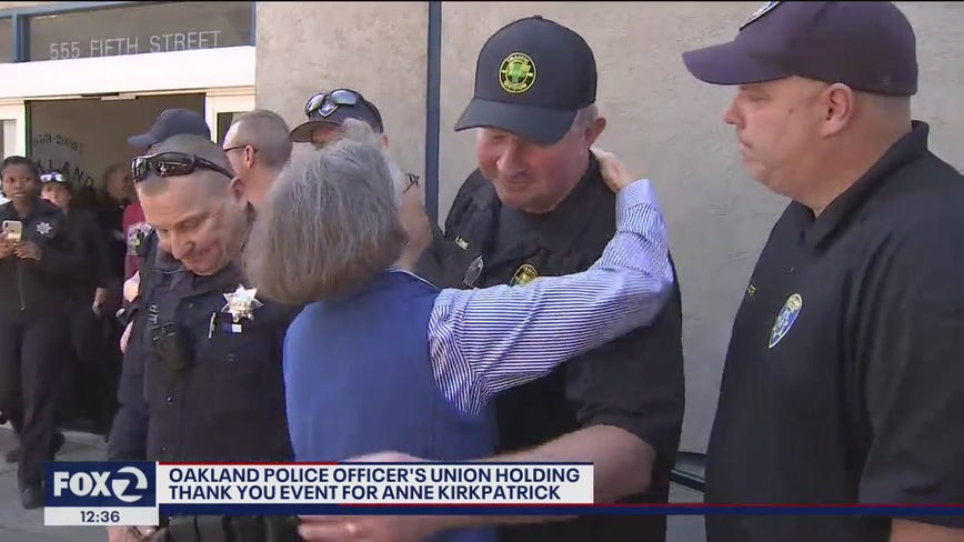 Ex-OPD chief speaks through tears at union event honoring her