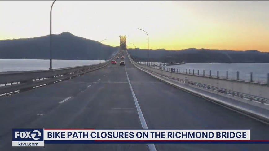 Richmond-San Rafael bridge bike and pedestrian path to close later this month