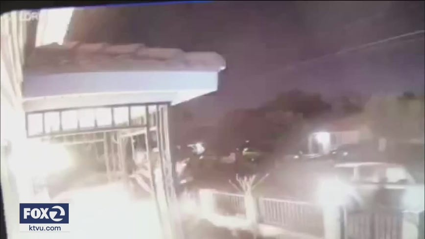 VIDEO: Suspect throws Molotov cocktail at San Jose home sparking fire