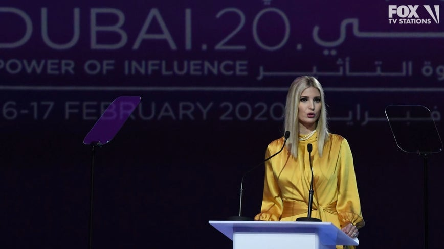 Ivanka Trump praises Saudi, UAE on women's rights reforms
