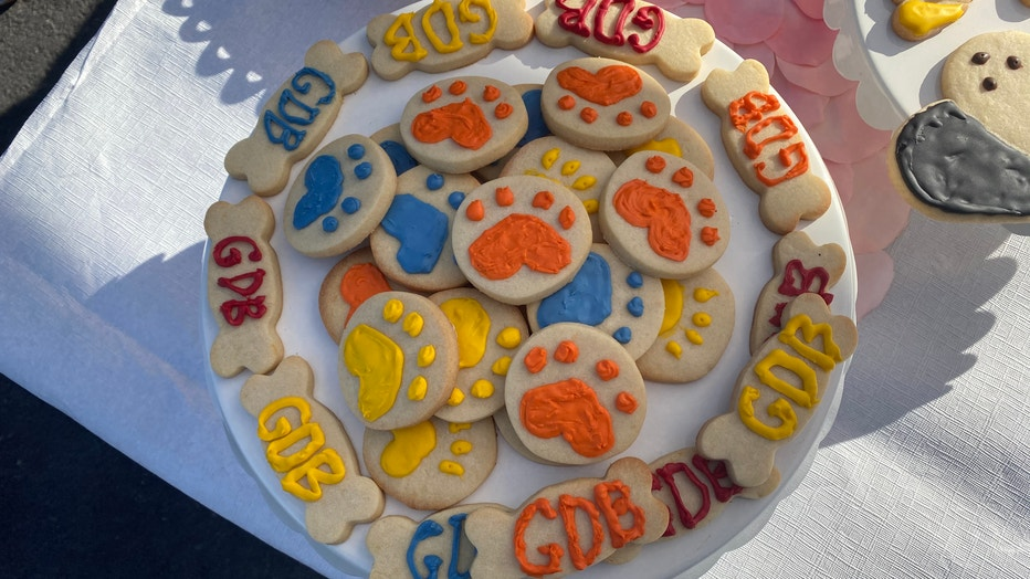 Puppy treats at the Guide Dogs for the Blind. Feb. 12, 2020
