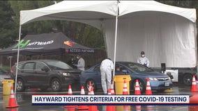 Hayward modifies COVID-19 testing criteria