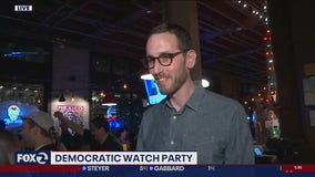 Speaking with Scott Wiener during SF Democratic watch party