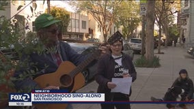 Social distance sing-a-long brings smiles to neighbors faces in San Francisco