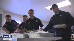 Vallejo firefighters dig in on take-out food to support local restaurants