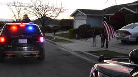 Residents shower Fremont police with support from their front yards in wake of stay at home order
