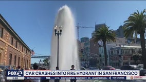 Car slams into San Francisco fire hydrant