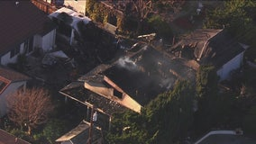 SkyFOX over Sunnyvale homes destroyed by fire