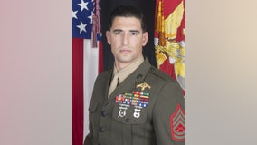 Thousands turn out for a memorial parade for fallen California Marine