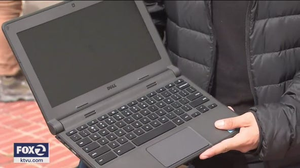 San Francisco schools distribute laptops to students in need for online distance learning
