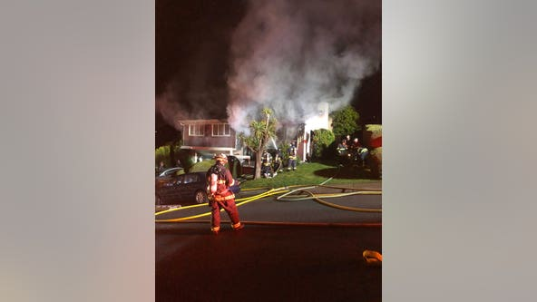 Home seriously damaged in San Bruno fire, no injuries reported