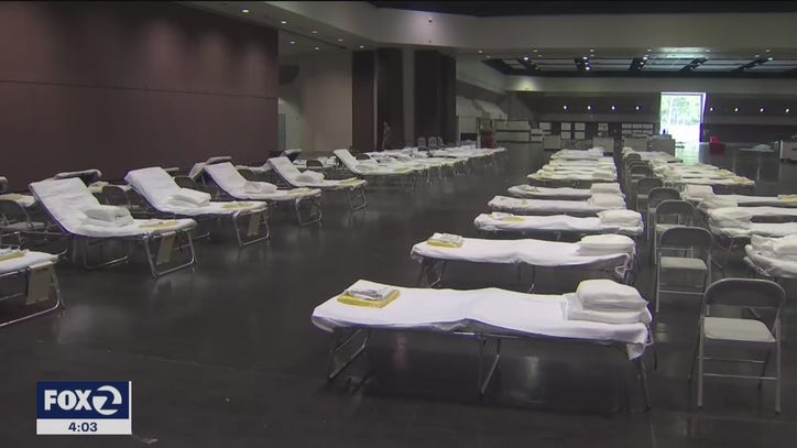 Take a look inside Santa Clara's convention center converted into makeshift hospital