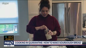 Making sourdough in quarantine