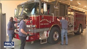 California company cleans fire trucks for free to thank first responders