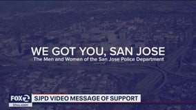 San Jose Police Department releases message of support