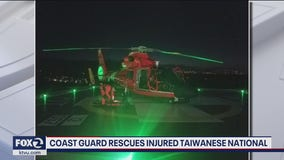 Coast Guard rescues injured Taiwanese National from container ship