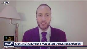 SF District Attorney's non-essential business advisory