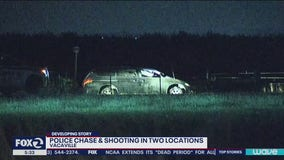 Police shooting and gunfire in Vacaville