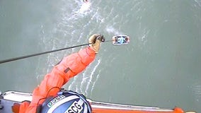 Kayaker rescued by US Coast Guard off the coast of Pacifica