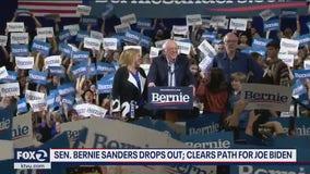 Sen. Bernie Sanders drops out, clears path for Joe Biden
