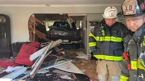 Pickup truck plows into Walnut Creek home, causes major damage
