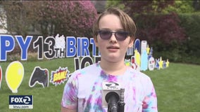 Child with compromised immune system gets surprise birthday party from a physical distance