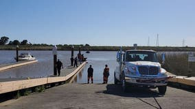Man dies after driving car off boat launch into slough in Suisun City